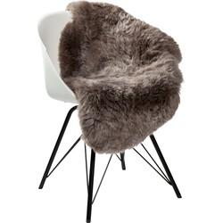 Dyreskinn® schapenvacht IJslands kort Taupe 90-110cm