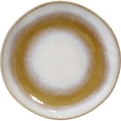 HK-living bord, dessert bord snow seventies stijl Ø 17,5cm