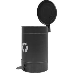 LABEL51 - Pedaalemmer 26x26x38 cm M - Modern - Zwart