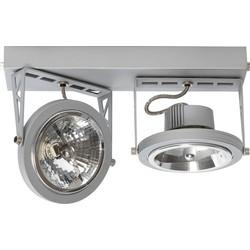 ETH Plafondspot Lofar 2-Lichts - Mat Zilver