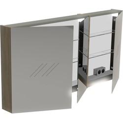Thebalux Basic Spiegelkast 70x140x13,5 cm Antraciet mat lak