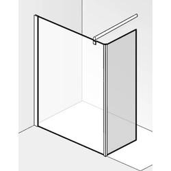 Saqu miralo Zijwand voor montageset zijwand 30x210 cm Grijs Glas