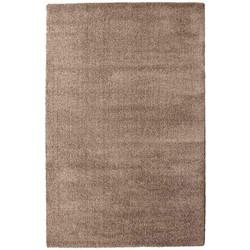 Vloerkleed Silky Touch tapijt Licht Bruin Hoogpolig - 80 x 150 cm - (XS)