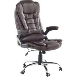 Stoel bruin - burostoel - bureaustoel - schrijfstoel - kunstleren stoel - ROYAL II