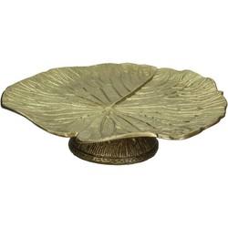 Kersten etagère Leaf goud 10x33x33cm