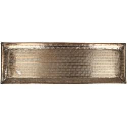 Plate Metal Copper 46x15cm