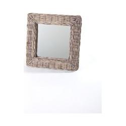 Rieten vierkante wand spiegel
