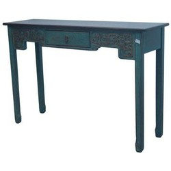 Fine Asianliving Fine Asianliving Chinese Sidetable met Carvings Blauw