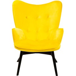 Kare Design Fauteuil Vicky geel 92 x 59 x 63
