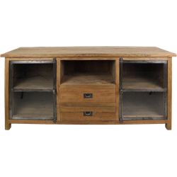 TV-meubel Hunter - reclaimed teak/ijzer