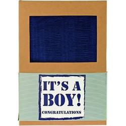Plaid Boy blauw 120x150cm