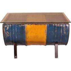 Salontafel Geel  90cm Metaal