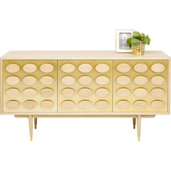 Kare Design Dressoir Golden Eye - Goud - 63 X 151 X 58 Cm