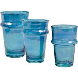 Traditioneel glas blauw M L XL XXL - (M) medium