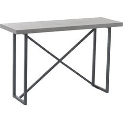Industry Grey - Sidetable - rechthoekig - grijs - hout - beton finish - metalen onderstel