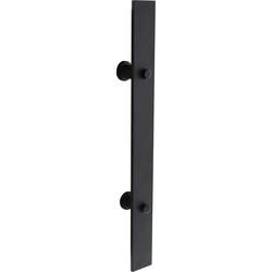 Deurgreep plat 400 mm x 40 mm tbv schuifdeur mat zwart