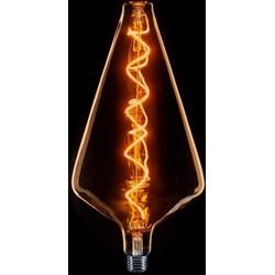 LED lichtbron XXL piramide 8W goud