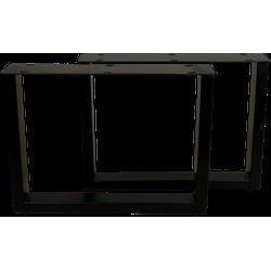 Salontafelpoten - U-model - powdercoated black - metaal - S/2