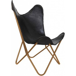 Mycha Ibiza Vlinderstoel – zwart – leren stoel – Butterflychair  - Fauteuil  - Talamanca 11