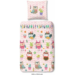 Kinderbettwäsche, Good Morning, »Owlz«, mit Eulenmotiv