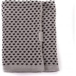 Stapelgoed Plaids Dots - Grijs Maat: 150x200cm