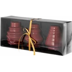 Kandelaar Tree burgundy set 3 stuks