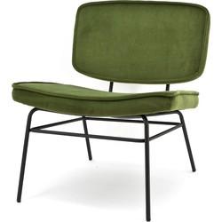 By Boo fauteuil Vice Fluweel groen 76 x 64 x 73