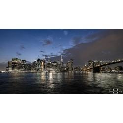 """New York Gotham City"" op Dibond 120cm"