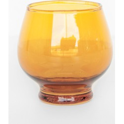 Tea light holder swinging 70s - Yolk Yellow