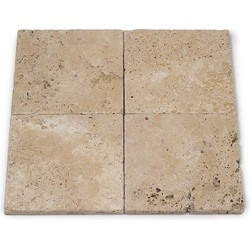 Travertine Light Tumbled 15 x 15 x 1 cm