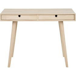 24Designs Bureau Amelie 2-Laden - 100x45x74 - Eikenhout White Wash