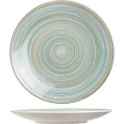 Cosy&Trendy Turbolino Dessertbord - Ø22 cm - 6 stuks - Blauw