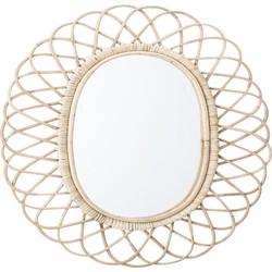Rieten spiegel Bloomingville