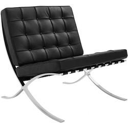 Expo fauteuil zwart premium leer