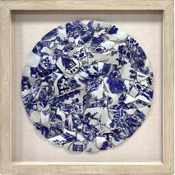 HKliving Schilderij Porcelain Circle  90 x 90 x 5
