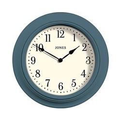 Jones Clocks Supper Club Old Boat Clock, Dia.41cm, Blue
