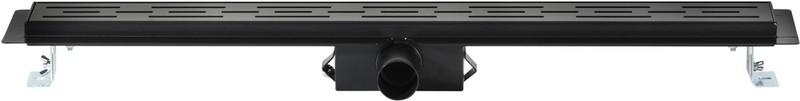 Saqu Douchegoot met Flens, Sifon en Filter 80x7 cm Zwart -