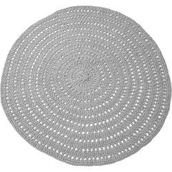 LABEL51 - Vloerkleed Knitted 150x150 cm - Design - Grijs