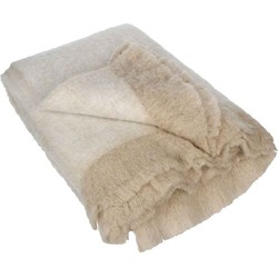 Casa Vivante fuse plaid beige maat in cm: 180 x 130