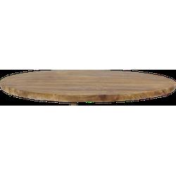Tafelblad rond - 130x130 cm - vintage - teak