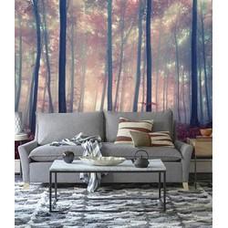 Vliesbehang Roze Bos 300x250 cm