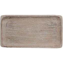 Casa Vivante tray scott maat in cm: 28 x 15 lichtgrijs