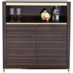 Kare Design Dressoir Boston - Bruin/Goud - 128 X 120 X 39 Cm