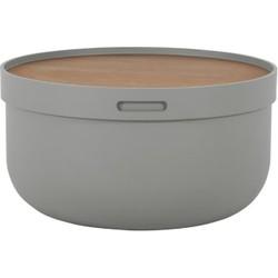 Ziv salontafel, grijs en walnotenhout