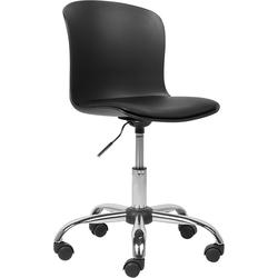 Bureaustoel met kunstleer zwart VAMO
