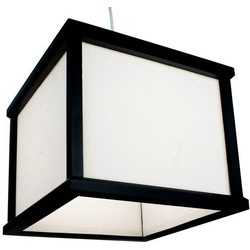 Fine Asianliving Japanse Hanglamp Rijstpapier Shoji Hout Shizuka Zwart