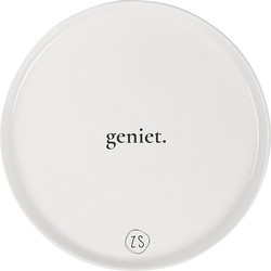 Zusss Ontbijtbord Wit 22 x 1,5 cm - Geniet