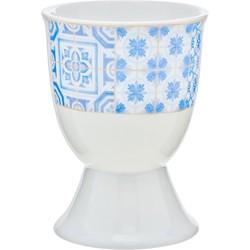Cosy & Trendy Tile Blue Eierdopjes - Ø 5 cm x 6.5 cm - Set-6