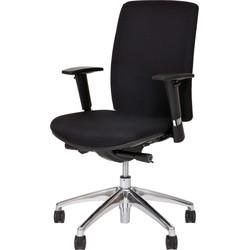 24Designs Bureaustoel Business Virginia - Stof - Zwart