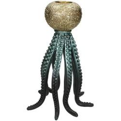 Kersten kandelaar oktopus zwart 28x20x20cm